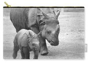 New Born Rhino And Mom Carry-all Pouch