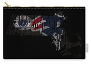 New England Patriots Typographic Map 03 Carry-all Pouch