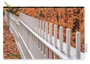 New England White Picket Fence With Fall Foliage Carry-all Pouch