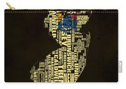 New Jersey Typographic Map 02 Carry-all Pouch