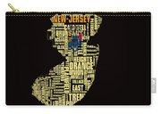 New Jersey Typographic Map 4g Carry-all Pouch