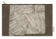 New Mexico Map Music Notes 3 Carry-all Pouch