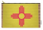 New Mexico Rustic Map On Wood Carry-all Pouch