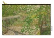 New Mills And Reflection Of Spring Carry-all Pouch