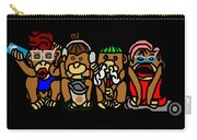 New No Evil Monkeys Carry-all Pouch