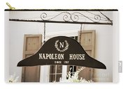New Orleans Sign - Napoleon House - Sepia Carry-all Pouch