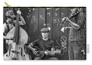 New Orleans Street Musicians Bw Carry-all Pouch