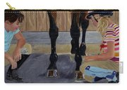 New Shoe Review Horse And Children Painting Carry-all Pouch