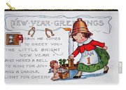 New Year Postcard Carry-all Pouch