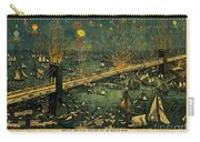 New York And Brooklyn Bridge Opening Night Fireworks Carry-all Pouch