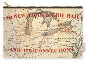 New York And Erie Railroad Map 1855 Carry-all Pouch