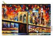 New York Brookyln Bridge Carry-all Pouch