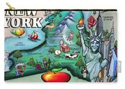 New York Cartoon Map Carry-all Pouch