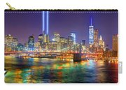 New York City Brooklyn Bridge Tribute In Lights Freedom Tower World Trade Center Wtc Manhattan Nyc Carry-all Pouch