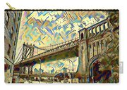New York City - Brooklyn Bridge Watercolor Carry-all Pouch