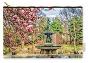 New York City Central Park Bethesda Fountain Blossoms Carry-all Pouch