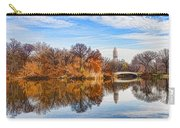 New York City Central Park Bow Bridge - Impressions Of Manhattan Carry-all Pouch