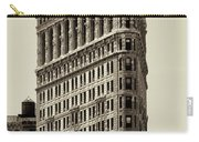 New York City - Flatiron In Sepia Carry-all Pouch