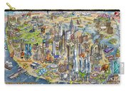 New York City Illustrated Map Carry-all Pouch
