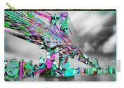 New York City Manhattan Bridge Pure Pop Green Carry-all Pouch