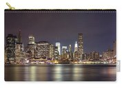 New York City - Manhattan Waterfront At Night Carry-all Pouch