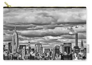 New York City Skyline B And W Carry-all Pouch