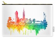 New York City Skyline Color Carry-all Pouch