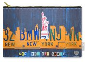 New York City Skyline License Plate Art Carry-all Pouch by Design Turnpike