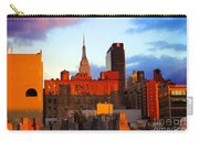 New York City Skyline Sunset Carry-all Pouch
