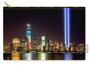 New York City Skyline Tribute In Lights And Lower Manhattan At Night Nyc Carry-all Pouch