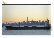 New York City Skyline With Passing Container Ship Carry-all Pouch
