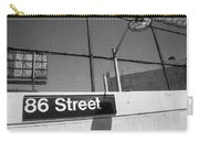 New York City Subway 86 Street Carry-all Pouch by Ranjay Mitra