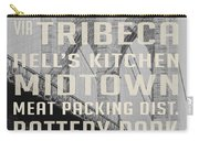 New York City Subway Stops Vintage Brooklyn Bridge Carry-all Pouch