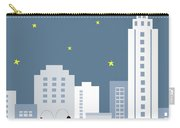 New York City Vertical Skyline - Empire State At Dusk Carry-all Pouch