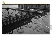 New York City You're Beautiful Brooklyn Bridge Ny Black And White Carry-all Pouch