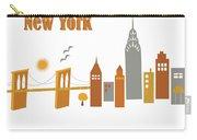 New York Horizontal Scene - Brooklyn Bridge Carry-all Pouch