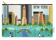 New York Horizontal Skyline - Central Park Carry-all Pouch