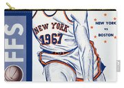 New York Knicks V Boston 1967 Playoff Program Carry-all Pouch