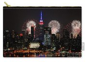 New York Skyline And Fireworks Carry-all Pouch