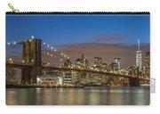 New York Skyline - Brooklyn Bridge - 4 Carry-all Pouch