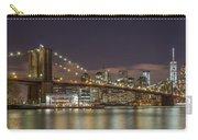 New York Skyline - Brooklyn Bridge - 6 Carry-all Pouch