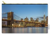 New York Skyline - Brooklyn Bridge Carry-all Pouch