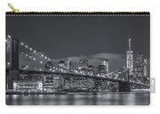 New York Skyline - Brooklyn Bridge Panorama - 4 Carry-all Pouch