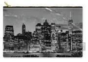 New York Skyline Bw Carry-all Pouch