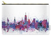 New York Skyline Color Splatter Carry-all Pouch