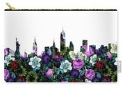 New York Skyline Floral 3 Carry-all Pouch