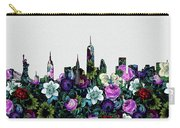 New York Skyline Floral 4 Carry-all Pouch