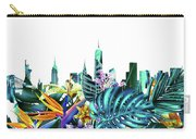 New York Skyline Floral  6 Carry-all Pouch