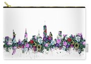 New York Skyline Floral Carry-all Pouch