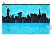 New York Skyline Silhouette Cyan - Da Carry-all Pouch